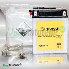 Moretti original batería de motocicleta 12n14-3a 12v 14ah top precio nuevo artículo