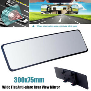 1×Panoramic Rear View Mirror Car SUV Wide Flat Interior Curved Blind Spot Mirror