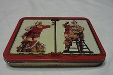 NOS 1994 Coca-Cola COKE Santa Claus Christmas playing cards 2 decks Sealed
