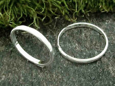 Freundschaftsring 925 Silber Ring Partnerring halbrunde Form 2mm breit poliert