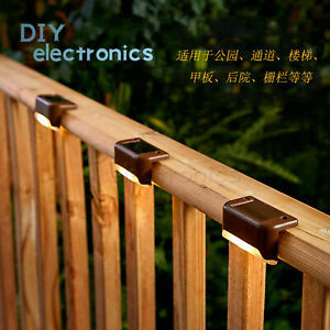 4/8Pcs Solar Led Deck Lights Waterproof Outdoor Yard Stairs Fence Lamps Lamp US