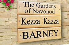 More details for personalised oak house sign,carved, custom engraved outdoor wooden name plaque