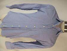 Gitman Bros Mens Blue Stripe Long Sleeve Cotton Shirt M USA Made