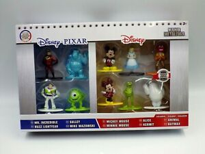 Figurine Disney Pixar Nano Metalfigs Set Pack 10 Pcs Metal Figure New