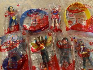 Mcdonalds 2016 Dc Comics Set 8 Super Hero Girls Toys w/Packages MINTY
