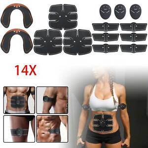 14x ABS EMS Bauchmuskeltrainer Damen Po Push Up Stimulator Exerciser Pad USB