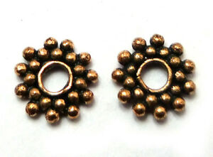 85 PCS 10MM SUN FLOWER SPACER BEAD OXIDIZED COPPER JEWELRY MAKING BEAD  665  UKB
