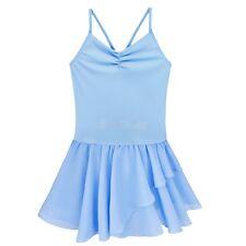 Kids Girls Gymnastics Bodysuit Ballet Dance Tutu Leotard Dress Dancewear Costume
