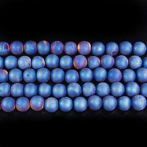 "natural matte gemstone spacer loose beads 4mm 6mm 8mm 10mm 12mm strand 15.5"""