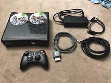 Microsoft Xbox 360 Slim Matte 4GB Complete w/ Battlefield 4 HDMI & A/V Cord