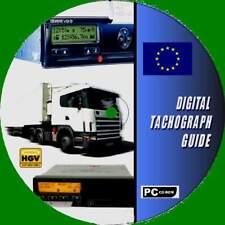 HGV PSV LGV DIGITAL TACHOGRAPH/TACHO GUIDE PC CD ROM OPERATING & USER DIRECTIVES