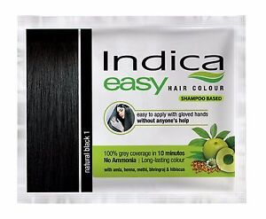 Indica Easy Herbal Hair Color Cream Natural Black, Brown & Burgundy Henna FS