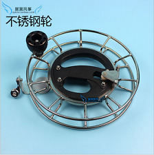 Stainless steel kite Line String Ballbearing Wheel/Winder/Reel Lockable Handle