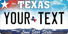Texas 2009 Tag License Plate Personalized Auto Car Custom VEHICLE OR MOPED