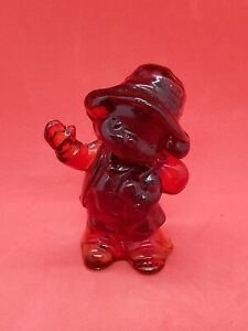 Boyd Glass Freddy the Clown Hobo in Cardinal Red 3""