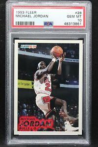 1993 Fleer 28 Michael Jordan PSA 10 Chicago Bulls