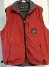 Abercrombie & Fitch Men's Size Large Reversible Vest ~ Burgundy Gray