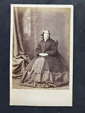 Victorian Carte De Visite CDV: Lady Large Hoop Dress : Wellings: Peckham