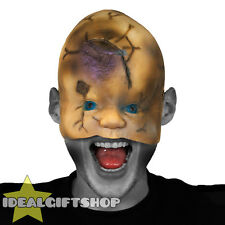 DOLL FACE HALLOWEEN MASK HORROR FACE FLESH NIGHTMARE SCAR FANCY DRESS