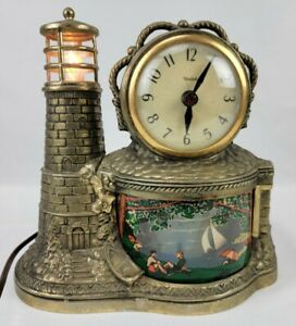 VINTAGE UNITED CLOCK CORP SESSIONS LIGHTED LIGHTHOUSE MOTION CLOCK 1940's/50's