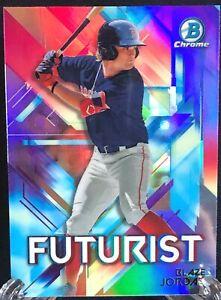 Blaze Jordan 2021 Bowman Chrome Futurist Refractor Rookie Card RC Boston Red Sox