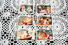 reproduction Christmas 1980 Disney Peter Pan Dominica 6 piece set stamps