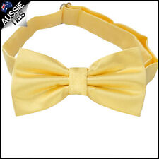 MENS BOW TIE Bowtie Pre-tied wedding tuxedo plain CHOOSE COLOUR 50 CHOICES!!