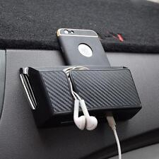 Black ABS Car Auto Accessories Air Outlet Storage Bag Box For Mobile Phone