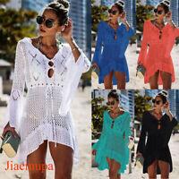 Jiaemupa Women Bathing Swimsuit Bikini Swimwear Crochet Cover Up Beach Dress