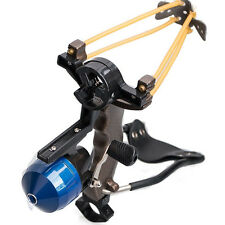 Hunting Fishing Slingshot Target Shooting Catapult Ammo Ball Sling Bow Reel Pro
