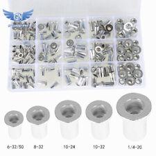 150 Pack Aluminum Rivet Nut Kit Rivnut Nutsert Standard Inch Sae Imperial