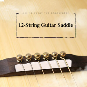 Acoustic Guitar BoneBridge Pins With Saddle And Nut 12 String For Folk Guitar