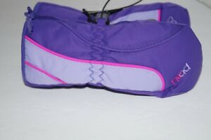 HEAD JR. SKI MITTENS SIDE ZIPPERED PURPLE AND PINK XX-SMALL AND SMALL NWT