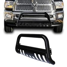 2009-2017 Dodge Ram 1500 Black Bull Bar Bumper Grille Guard+Removalbe Skid Plate