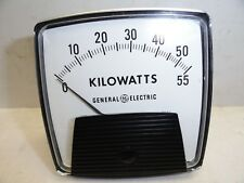Vintage General Electric Kilowatt Meter Measures 0-55 KW Gauge NOS
