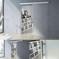 Modern Clear Glass Soft Close Tempered Sliding Door With Bar Handle