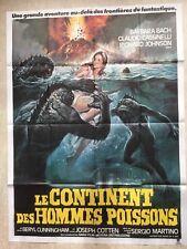 Affiche Le continent des hommes poissons (Fish Men) Cinéma EO 1979 CASARO