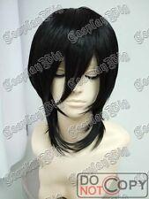 Short BLACK cosplay wig bob costume fashion man sebastian kuroshitsuji