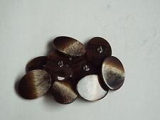 5pc 15mm Mock Wood Brown Beige Oval Button ideal for Knit wear Cardigan 2400
