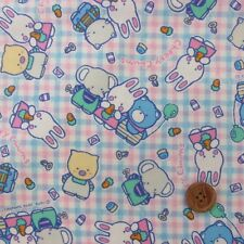 Sanrio My Lovely 80s Cheery Chums Oxford Fabric / Japanese Fabric 110 x 50cm