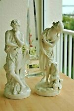 "Antique Niderviller Porcelain Figurine PAIR Male & Female 10.75"" Soft-paste"