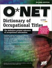 The Onet Dictionary of Occupational Titles 2001 (O'net Dictionary of-ExLibrary