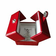 Leatherette Earring Box Gift Organizer Red Storage Case Engagement Gift Red A07