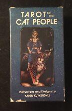 TAROT OF THE CAT PEOPLE Karen Kuykendall 1985 First Edition  US GAMES Magic