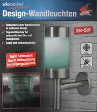 solarzauber Design Wandleuchten Dekorative Solar Wandleuchten 2er Set Neu