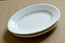 Pair Vintage Anthony Shaw English Ironstone Dense Oval Side Plate Dish 1882-1898