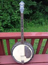 ANTIQUE VINTAGE TENOR HOWARD 4 FOUR STRING BANJO W/ CASE ELITE MODEL RESONATOR
