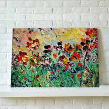 Framed Ready To Hang HD Canvas Print Picture Wall Art Paintings-Abstract Flowers
