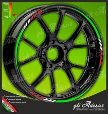 Adhesive Strips Rims Wheels Motorcycle Yamaha Tricolour Green White Red