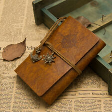 [EL] Vintage Diary Exercise Book Leather Cover Travel Plan Pocket Pirate